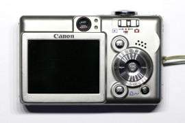 Canon PowerShot SD400: Back
